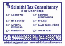 Srinithi Tax Consultancy Chennai